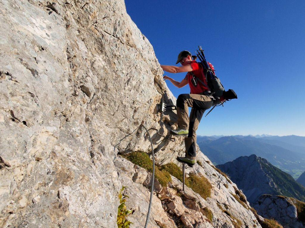 Einfacher Klettersteig