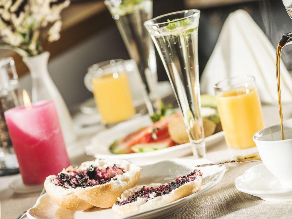 Foto von dem Frühstücktisch