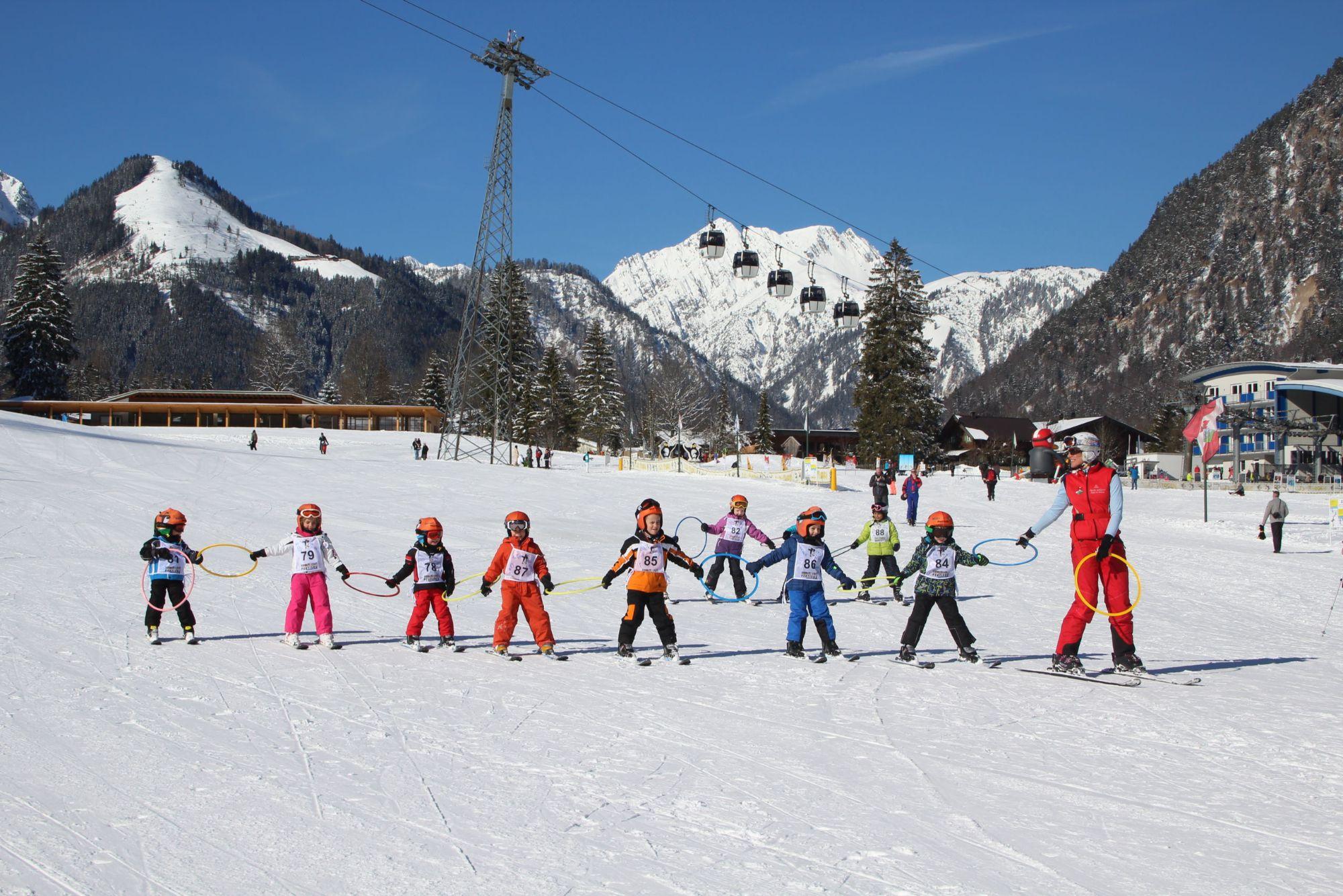 Skikurs mit den Kindern