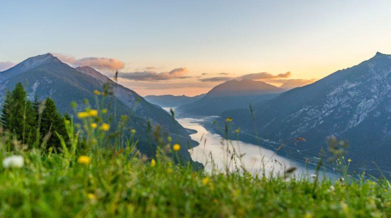 Sonnenuntergang am Achensee