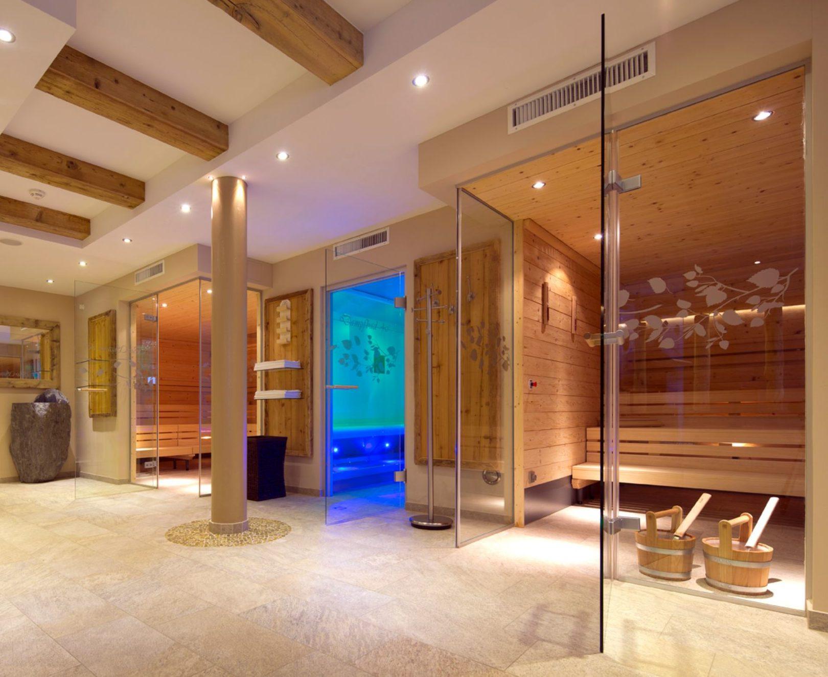 Bild von den einzelnen Saunas